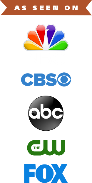 As Seen on NBC, CBS, ABC, CW, and Fox